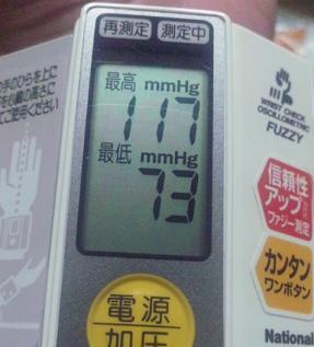 最近の血圧